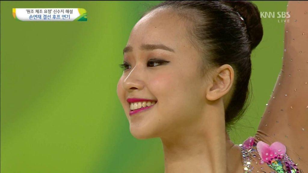 ソン・ヨンジェの画像がかわいい。韓国の美人新体操選手。始球式も