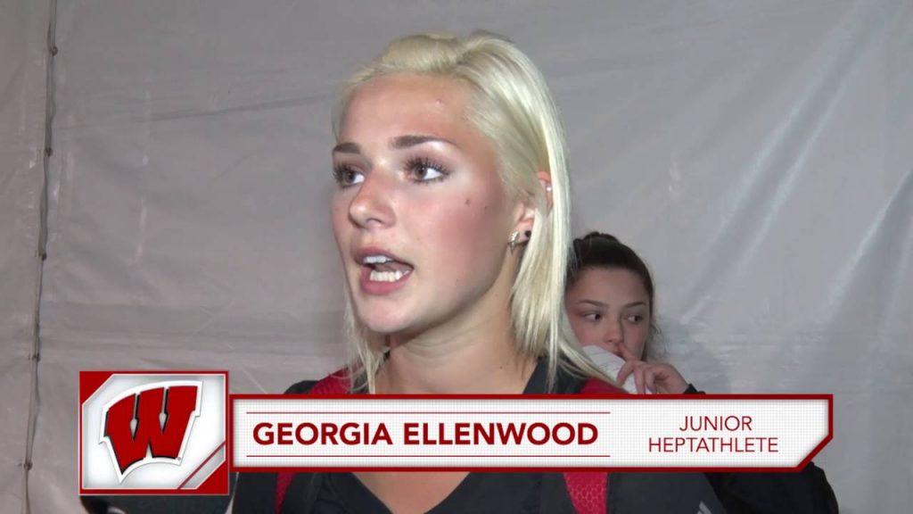 ジョージア・エレンウッドの(陸上)インスタ画像。カナダの美人七種競技選手
