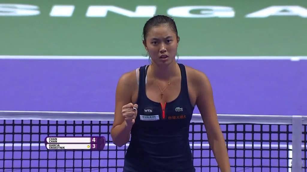 チャン・ハオチンのインスタ画像。台湾の美人姉妹テニスプレーヤー
