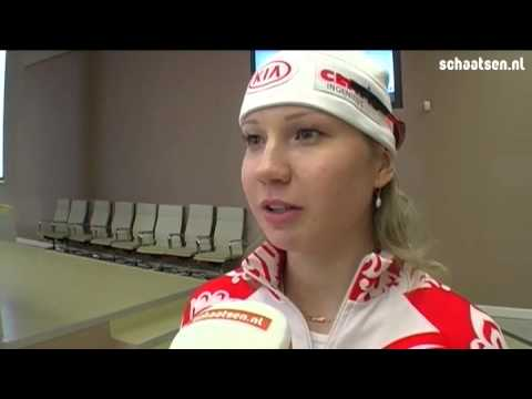 オルガ・ファトクリナのインスタ画像。ロシアのスピードスケーター