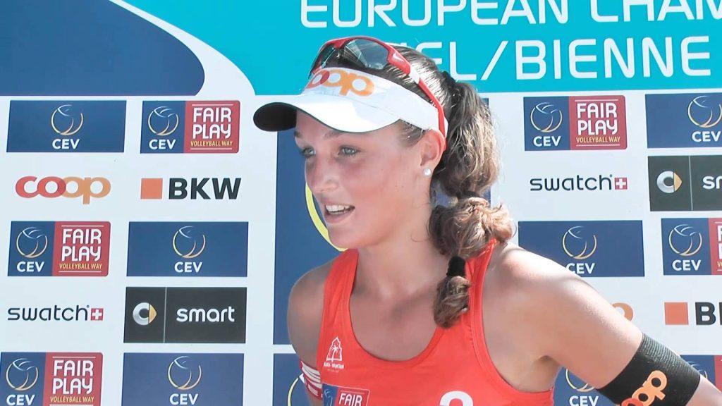 アヌーク・ヴェルジェ=デプレ画像。スイスの美人ビーチバレー選手