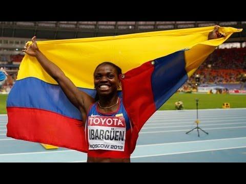 カテリーン・イバルグエンの画像。コロンビア三段跳の金メダリスト
