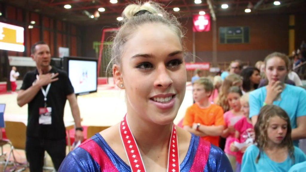 ジウリア・シュタイングルーバーの画像。スイスの美人体操選手