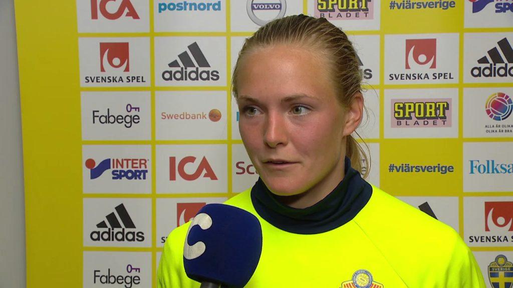 マグダレーナ・エリクソンの画像。スウェーデンの美人サッカー選手
