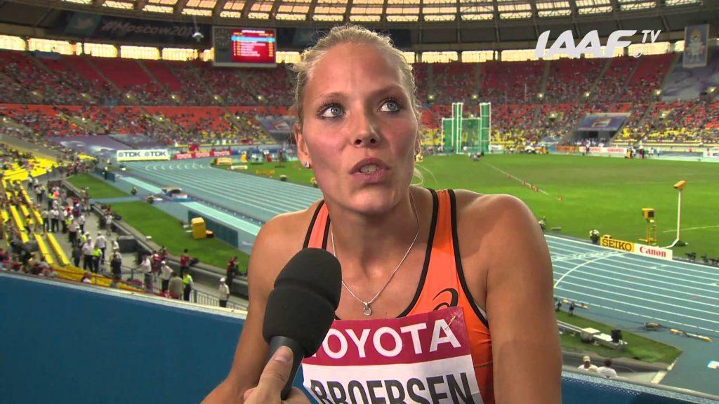 ナディーヌ・ブロールセン(陸上)のインスタ画像。オランダの七種競技の選手