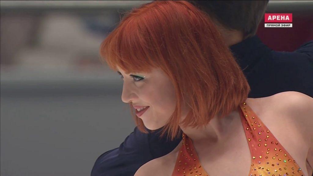 ティファニー・ザホースキの画像。赤毛が印象的なフィギュアスケーター
