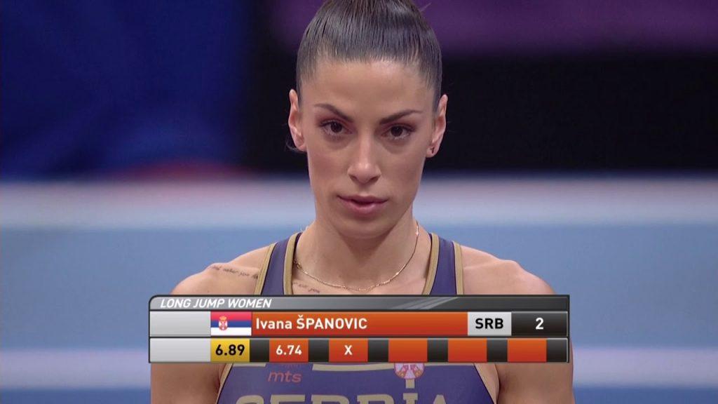 イバナ・スパノビッチ(走幅跳)の画像。セルビアの美人アスリート