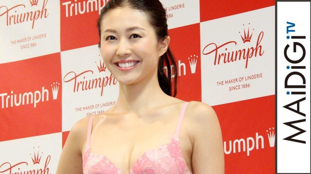 越川友貴のインスタ画像がかわいい。トリンプモデルや水着ショーも!