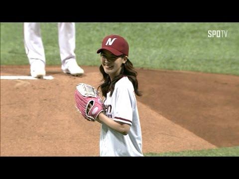 藤井美菜の画像がかわいい。韓国野球での始球式や韓国語動画!ヤクルトCMも