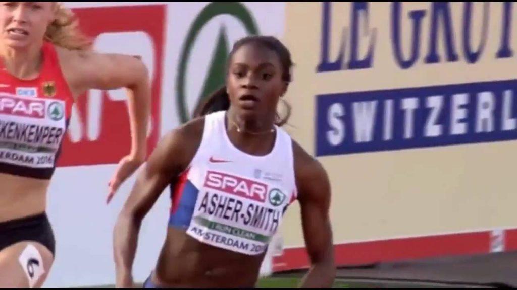 ディナ・アッシャー=スミスのインスタ画像。イギリス陸上短距離選手