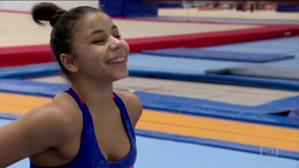 フラビア・サライバの画像がかわいい。ブラジルの美人体操選手